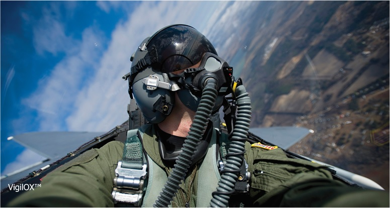 Cobham VigilOX™ Pilot Breathing Sensors Fly on F-18 and T-45